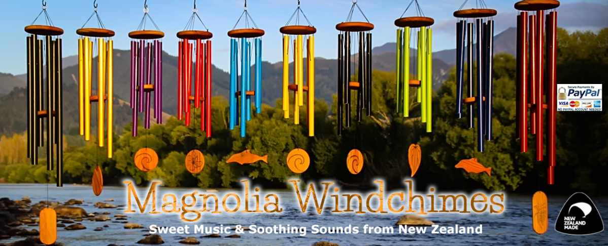 Magnolia Windchimes, made in New Zealand